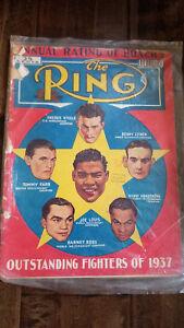 1938 FEBRUARY THE RING MAGAZINE JOE LOUIS BARNEY ROSS HENRY ARMSTRONG STEELE