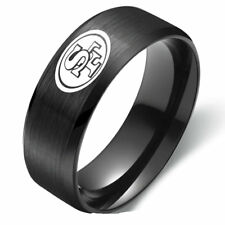 San Francisco 49ers Football Team Stainless Steel Men's Ring Band Size 6-13