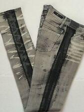 NWT Rock & Republic Distressed Tire Tracks Grey Lowrise Skinny Jeans Jr Tween 24