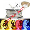 Hot 1M-10M Waterproof SMD 5050 LED Strip 220V 60leds/m Flexible tape rope Light
