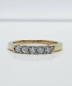 Diamond Half Eternity Ring 0.25ct  yellow Gold