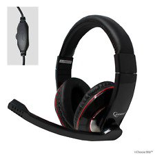 Gaming MHS-U-001 USB Headset with Boom Microphone for Computer Laptop PC Skype