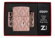 ZIPPO ★ GEOMETRIC DIAMOND PATTERN (Armor - 360°MultiCut - Swarovski crystal)
