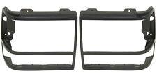 New Set of 2 Headlight Door/Bezels - Black (LH & RH Side), For Ford Bronco, Pair