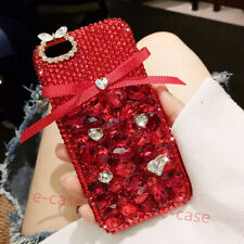 Bling Rhinestone Diamond Crystal Soft TPU+ PC Clear Case Cover For Cell Phones