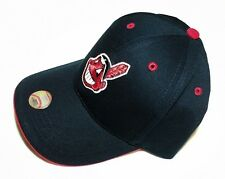 CLEVELAND INDIANS Chief Wahoo MLB Baseball Hat Adjustable YOUTH LG KIDS SIZE NWT