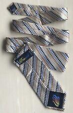Peacock Brand Silk Tie Multicolor Geometric Small Square Pattern - EUC 59x3 1/4