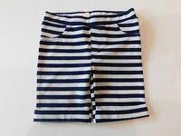 NWT Epic Threads Baby Girl Bermuda Shorts Navy Blue White Striped 3Yr 4Yr New