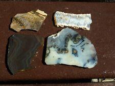 6 assorted Agate,dendritic jasper, psilomane  mixed slabs  6.2 oz