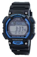 Casio Men's STL-S100H tough Solar Runner Digital Black and Blue Watch