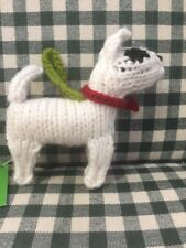 Chilly Dog Hand Knit Wool Bull Terrier Ornament
