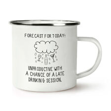Forecast For Today Retro Enamel Mug Cup - Rude Funny Quote