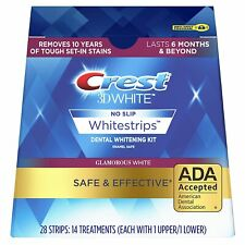 7 Pouches 14 Strips Crest3D White Glamorous white Dental Whitestrips EU SELLER