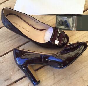 David Lawrence Burgundy Patent Leather heels Court shoes Pumps Size 36 6 EUC