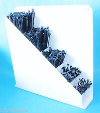 1500 Kabelbinder Kabelband Wandhalter Halter Sortiment box gefüllt Set schwarz