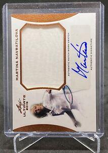 MARTINA NAVRATILOVA 2015 Leaf Tennis Patch Auto Card #SA-MN1 USA Mint PSA