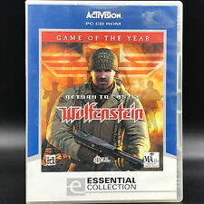 Return to Castle Wolfenstein Game of the Year for PC