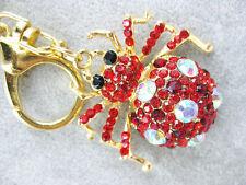 Charming Spider Keychain Crystal Keyring Rhinestone Pendant Bag Key chain ring