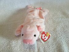 Ty Beanie Original Baby, Squealer the Pig 1993 with Tag, Typo in Poem, E1