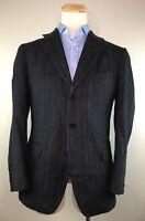 Ermenegildo Zegna Grey Striped Angora Wool Blazer Sport Coat Jacket Mens 42R