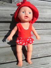 BADEANZUG + Hut für my little Baby Puppen Gr. 32 Muffin Aquini NEU Badepuppe
