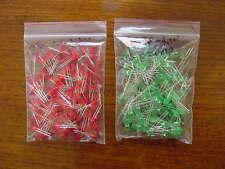 Lot de 200 LEDS !! 100 les vertes et 100 led rouges 5mm