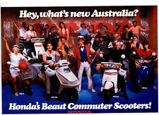 HONDA Commuter Scooters 6 Page Motorcycle Brochure NOS