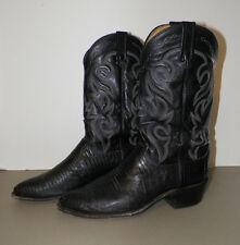 MEN'S DAN POST BLACK LEATHER WESTERN COWBOY BOOTS SIZE 10 1/2 D GOOD PRE-OWNED