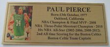 Basketball PAUL PIERCE Pic gold plaque free post**