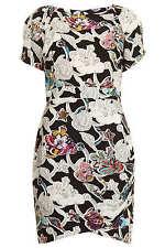 New TOPSHOP printed drape front dress UK 6 in Multi
