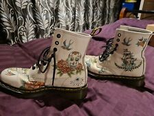 Dr Doc Martens White Tattoo Boots 5