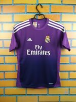 Real Madrid Jersey Goalkeeper 2013 2014 Youth 11-12 Shirt G81078 Soccer Adidas
