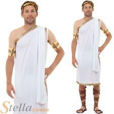 Mens Caesar Costume Roman Greek God Toga Fancy Dress Adult Outfit