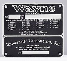 WAYNE 60 GAS PUMP CUT IDENTIFICATION TAG