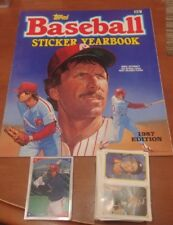 Topps 1987 Baseball Sticker Yearbook Complete set 313 Stickers & Book Mint