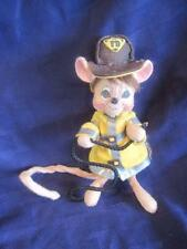 Fireman Mouse/Rat Hose Long Tail Poseable Fabric Felt Plush Stuffed OOAK