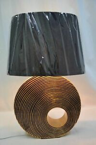 GOLD AND BLACK ANTIQUE POLYRESIN TABLE LAMP 61CM HIGH
