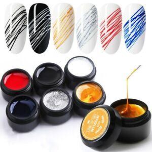 8ml Nail Spider Gel Polish Painting Creative Nail Art Line Varnish Elastic Paint
