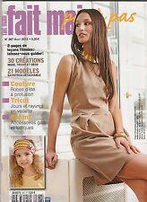FAIT MAIN pas à pas N°367 août 2012  couture tricot décoration