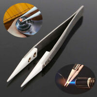 Ceramic Tip Stainless Steel Tweezers Fine Pointed Tip Heat Resistant Tweezers Hu