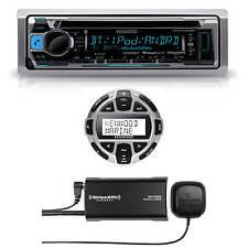 Kenwood Marine Boat CD MP3 Bluetooth Stereo + Digital Remote & SiriusXM Antenna
