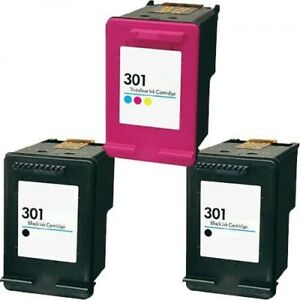 Remanufactured Triple Pack HP 301 Black Twin And HP301 Colour Ink Cartridges