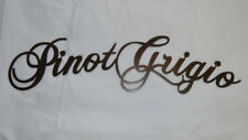 18 1/4 x 4 1/2 Pinot Grigio Pino Wine Metal Bar Wall Steel Sign in Copper Vein