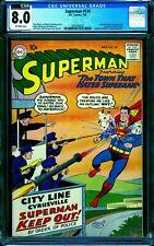 Superman 130 CGC 8.0 -- 1959 -- Supergirl cameo. Swan. Top 10 copy. #2041692022