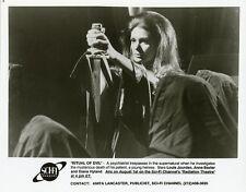 DIANA HYLAND PLUNGES DAGGER RITUAL OF EVIL ORIGINAL 1991 SCI-FI TV PRESS PHOTO