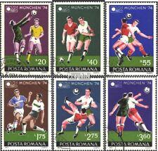 Roemenië 3203-3208 gestempeld 1974 WK 1974