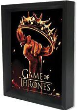 GAME OF THRONES CROWN 3D LENTICULAR SHADOW BOX 8X10 HBO NIGHTSWATCH JON SNOW NEW
