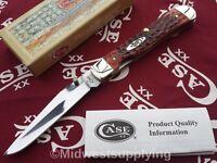 Case XX TrapperLock Folding Knife Carbon Steel Blade Brown Chestnut Bone Handle