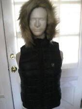 American Eagle AEO Get Down Light Weight Hooded SOFT Puffer Vest  DK BLUE SMALL