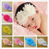 10Pcs Lovely Cute Kids Girls Baby Chiffon Toddler Flower Bow Headband Hair Band